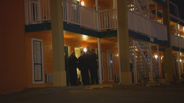 WEB EXTRA: Video From Scene Of Stabbing At A Tulsa Motel