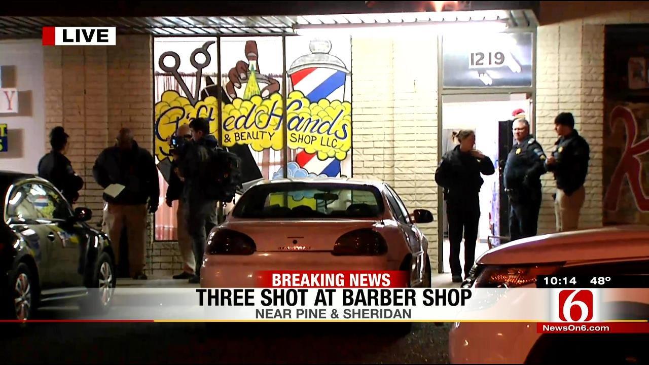 Police Investigating Triple Shooting At North Tulsa Barber Shop