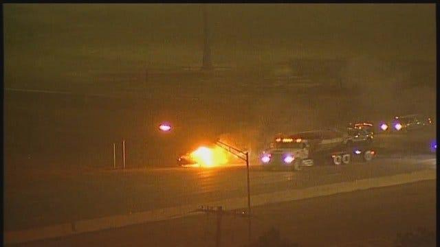 WEB EXTRA: Osage SkyCam Video Of Broken Arrow Expressway Car Fire