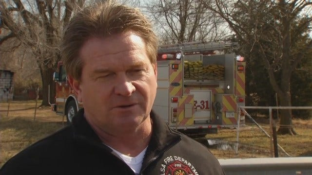 WEB EXTRA: Tulsa Fire Captain Stan May Talks About Shed Fire