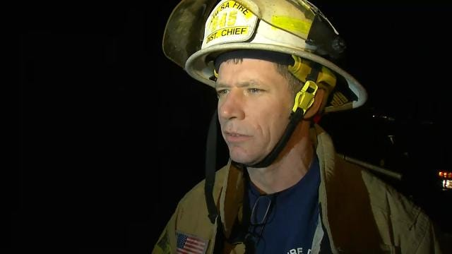 WEB EXTRA: Tulsa Fire District Chief Rogers Williams Talks About House Fire