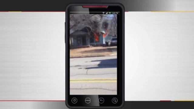 WEB EXTRA: West Tulsa House Fire Video From Alex Benedict