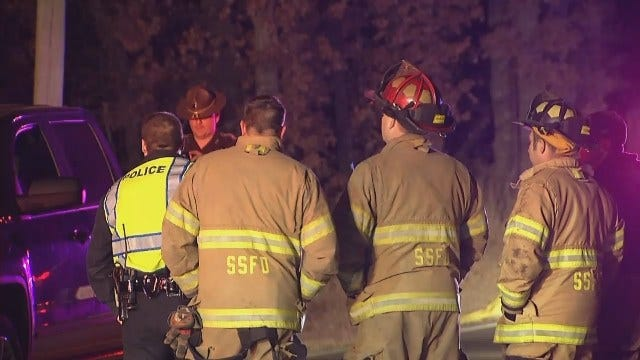 WEB EXTRA: Video From Scene Of Fatal Crash On Highway 97 North Of Sand Springs