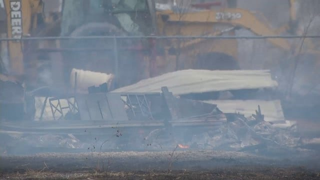WEB EXTRA: Scenes From Skiatook Grass Fire