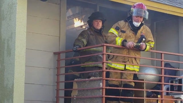 WEB EXTRA: Firefighters At Shadow Mountain Apartments Fire