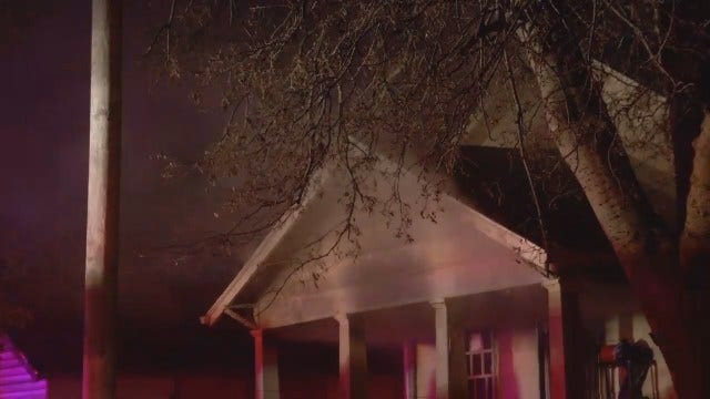 WEB EXTRA: Firefighters Respond To Tulsa House Fire