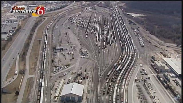WEB EXTRA: Osage SkyNews 6 HD Video Of Cherokee Yard In West Tulsa