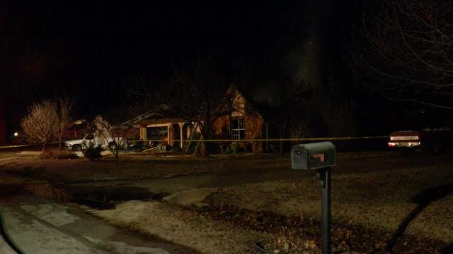 WEB EXTRA: Video From Scene Of Fatal Bixby House Fire