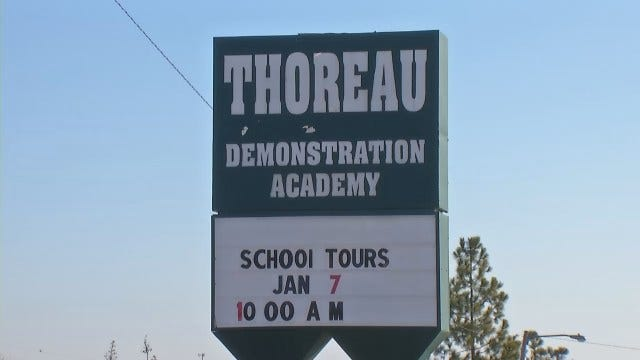 WEB EXTRA: Video From Outside Thoreau Demonstration Academy In Tulsa