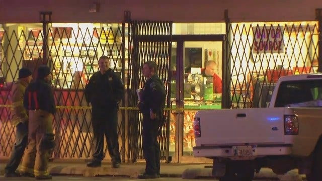 WEB EXTRA: Video From Scene Of East Tulsa Convenience Store Robbery, Fatal Shootings