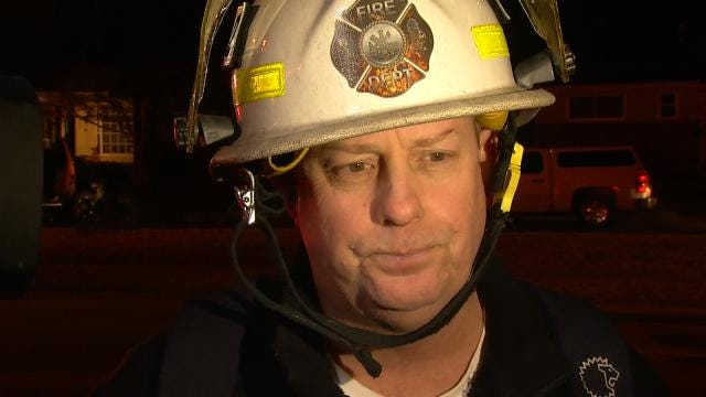 WEB EXTRA: Tulsa District Fire Chief Glen Brigan Talks About House Fire