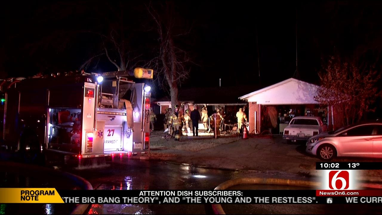 Elderly Man Rescued Through Window Of Burning East Tulsa Home