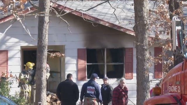 WEB EXTRA: Video From The Creek County House Fire