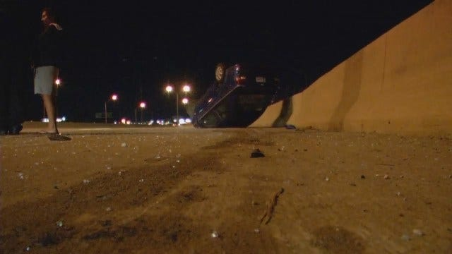 WEB EXTRA: Rollover Crash On Interstate 44 In Tulsa