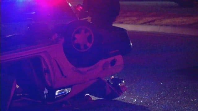 WEB EXTRA: Tulsa Rollover Wreck Injures Juvenile Driver