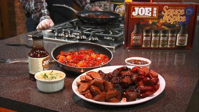 Grammy's Sweet and Spicy Sausage Jubilee