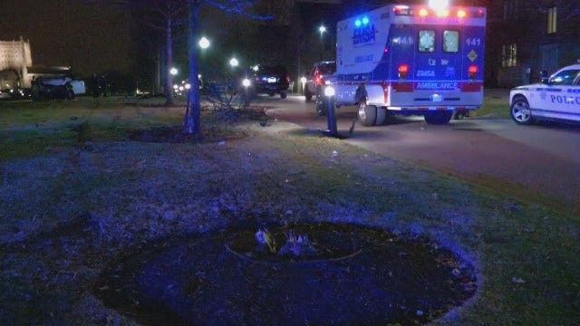 WEB EXTRA: Video From Scene Of Car Crash On The University Of Tulsa Campus