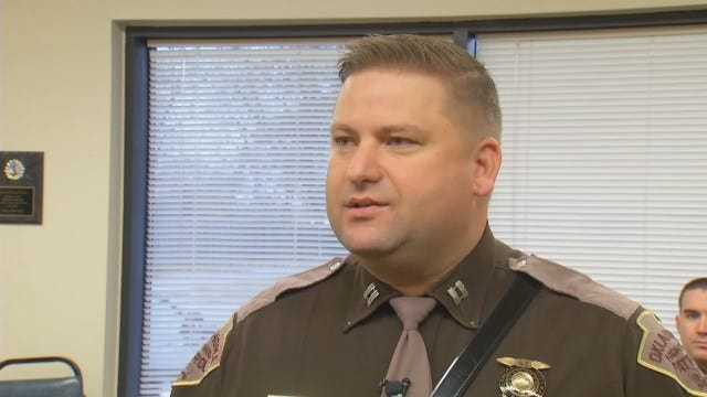 WEB EXTRA: Oklahoma Highway Patrol Captain George Brown Talks About Christmas Delivery