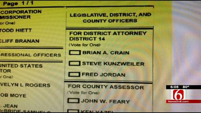 Two Running, Three On Ballot For Tulsa District Attorney