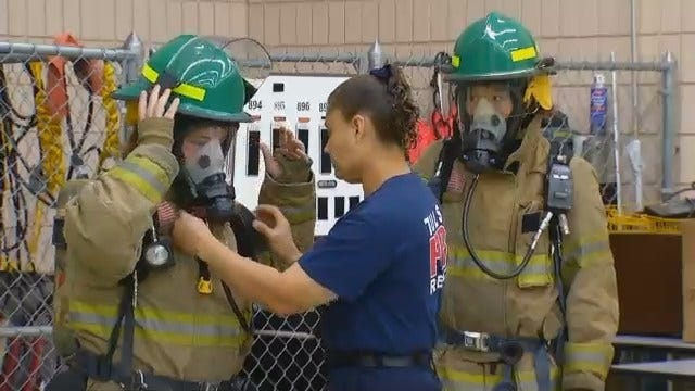 WEB EXTRA: Video From Tulsa Fire Department's Camp For Young Girls