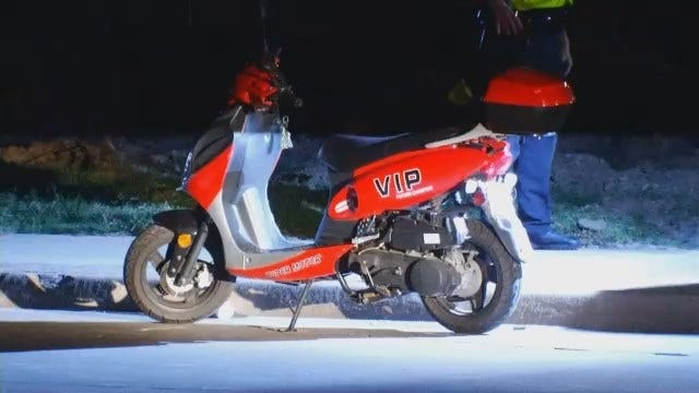 WEB EXTRA: Video From Scene Of Tulsa Scooter Crash