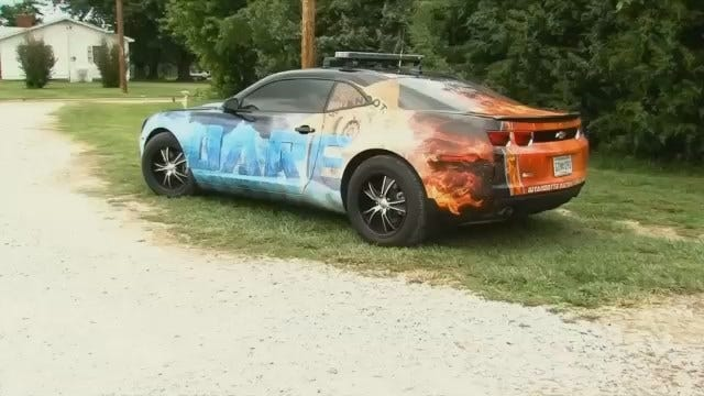 Wyandotte Officers Use Car Design To Warn About Dangers Of Drugs