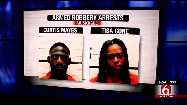 Muskogee Police Arrest 2 For Armed Robberies