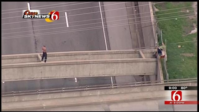 Friends Say Tulsa Police Are Lying About Man Who Was On 1-244 Bridge