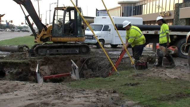 WEB EXTRA: Video Of Crews Repairing A Water Main Which Broke At Memorial And 41st
