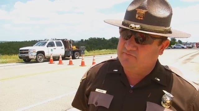 WEB EXTRA: Highway Patrol Trooper On Mannford Fatality Wreck