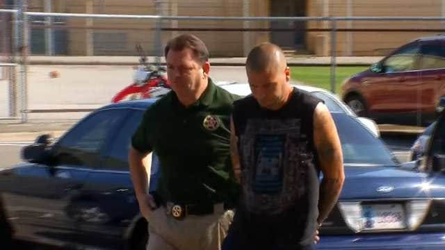 WEB EXTRA: Deputies Walking Anthony Wallen Into The Wagoner County Jail