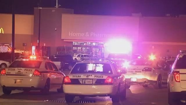 WEB EXTRA: Video Of Scene At East Tulsa Walmart