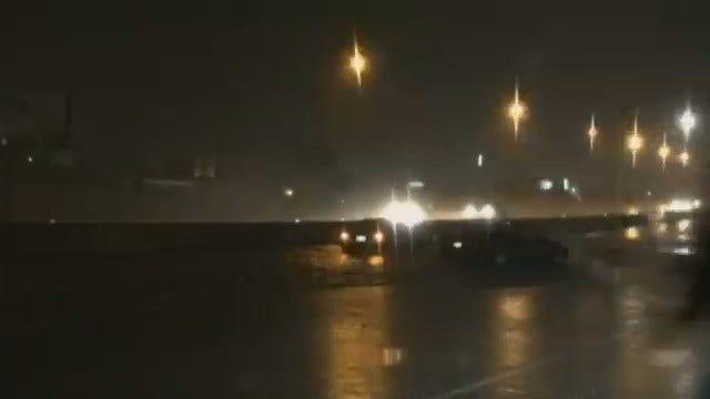 WEB EXTRA: Flooding On Highway 169 Near 61st Street
