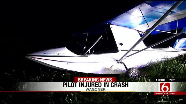 Pilot Taken To Hospital After Plane Crashes In Wagoner