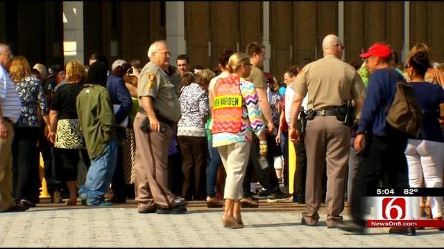 Tulsa County Courthouse Evacuation Goes Smoothly