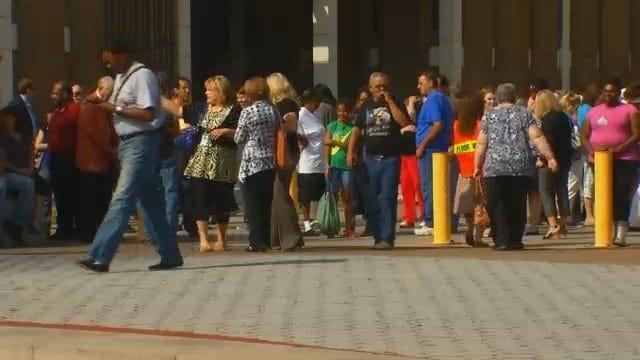 WEB EXTRA: Video Of Tulsa County Courthouse Evacuation