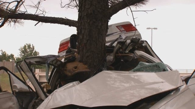 WEB EXTRA: Scenes From High-Speed Crash On Creek Turnpike