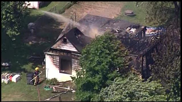 Osage SkyNews 6 Over Porter House Fire