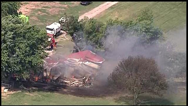 Osage SkyNews 6 Over Structure Fire Outside Of Porter