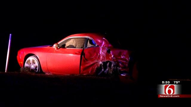 Wrecked, Abandoned Car Found On Will Rogers On Ramp At Claremore