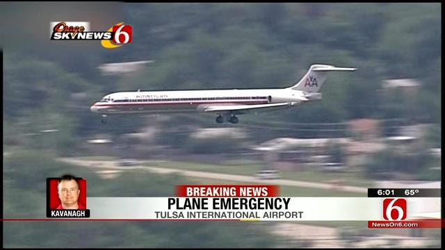 American Airlines Jet Makes Emergency Landing At Tulsa International Airport