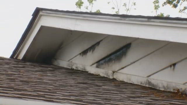 WEB EXTRA: Video Of Muskogee Home Struck By Lightning