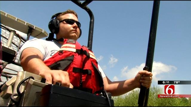Illinois River Firefighters Train In Airboat Emergency Response