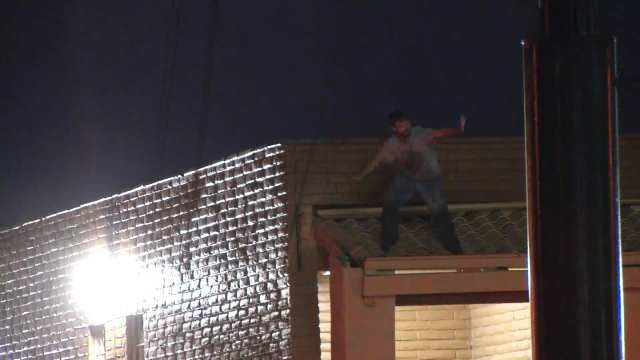 WEB EXTRA: Video From Scene Of Man On Roof Of Tulsa Motel