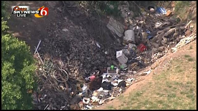 WEB EXTRA: Osage SkyNews 6 Flies Over Land Where Human Skull Was Found