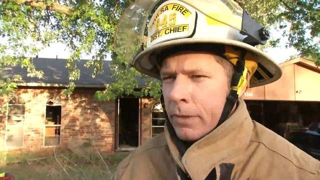 WEB EXTRA: Tulsa Fire District Chief Roger Williams Talks About The Fire