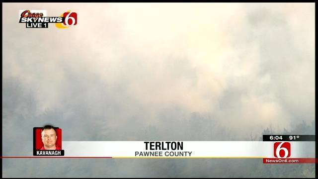 WEB EXTRA: Osage SkyNews 6 Pilot Over Fire Near Terlton