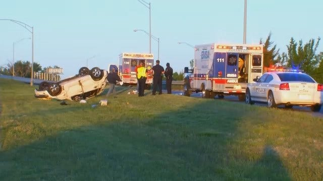 WEB EXTRA: Video From Scene Of Fatal Crash At Broken Arrow Expressway And Sheridan
