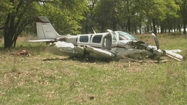 WEB EXTRA: Video From Scene Of Nowata Plane Crash
