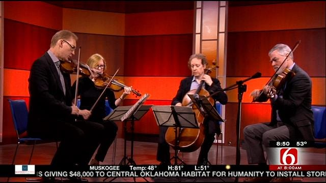 American String Quartet Performs On 6 In The Morning